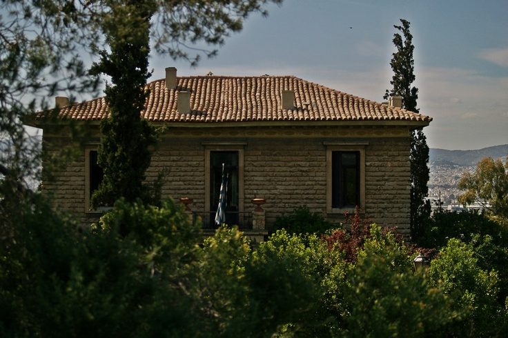 A building of the National Observatory. (Walking Athens, Route 07 - Philopappos Hill)