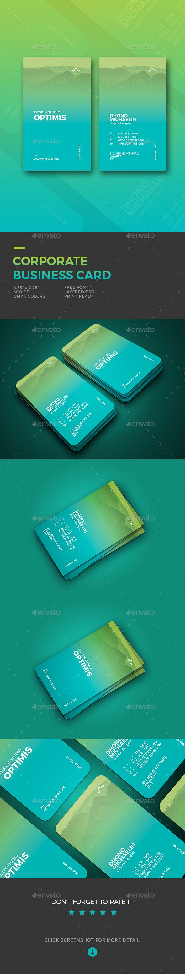 #Corporate #Business #Card - Business Cards Print Templates Download here: https://graphicriver.net/item/corporate-business-card/19575555?ref=alena994