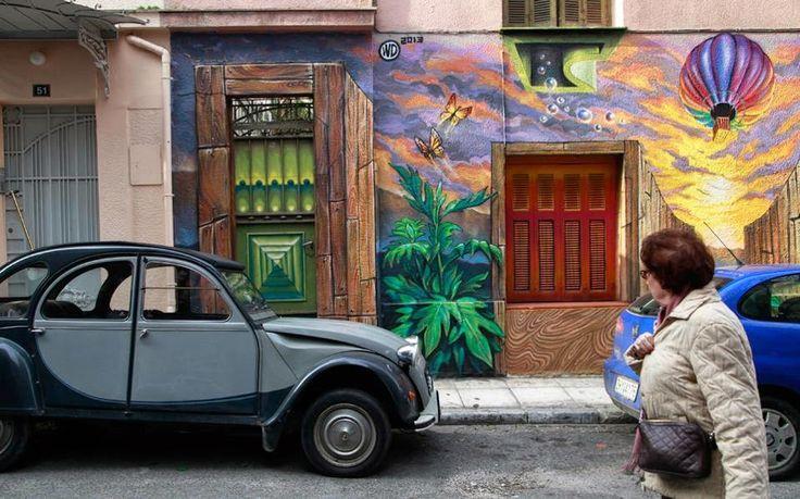 """Το Αφηρημένο Blog: Γκράφιτι: Η τέχνη του δρόμου """"βάφει"""" την Αθήνα"""