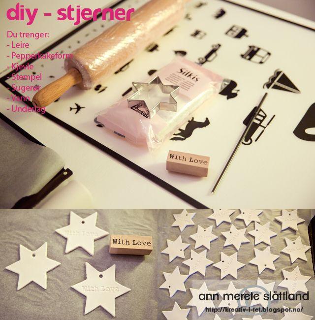 DIY - Stjerner av papirleire ~ KREATIV - I - TET