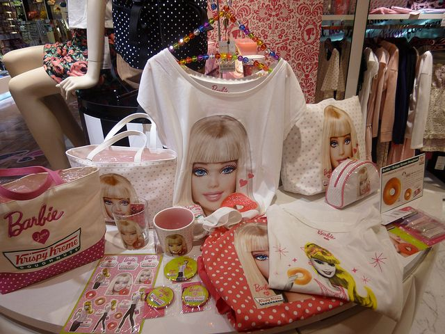 Barbie Merchandise in Ginza Barbie Store by Pop Life Ken, via Flickr