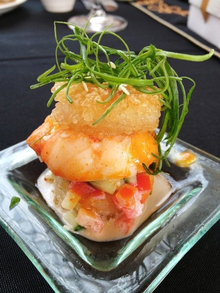 Pan Fried Mini Rice Burger with Slipper Lobster