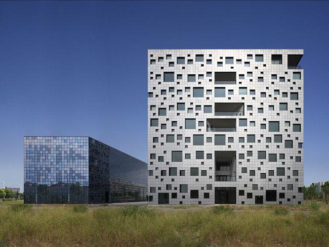 "Sako architects ""Cube Tube"", Jinhua, China."