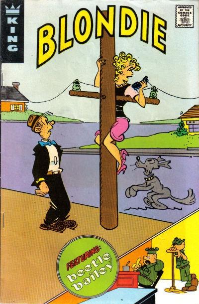 Blondie vintage comic book - telephone call, Dagwood
