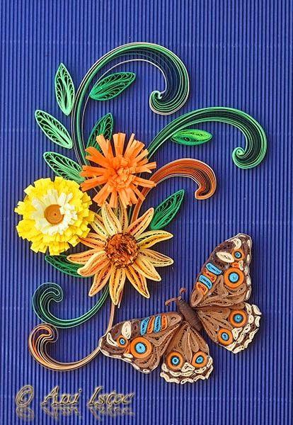 Printre hobby-uri: quilling, kusudama, origami, bijuterii handmade...: Quilling - Butterflies (Fluturi)
