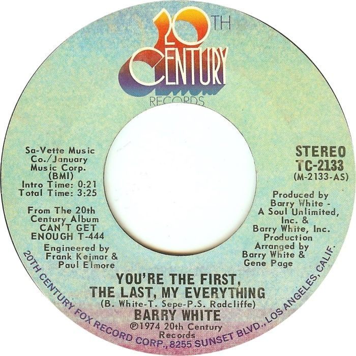 You Re The First The Last My Everything Barry White 1974