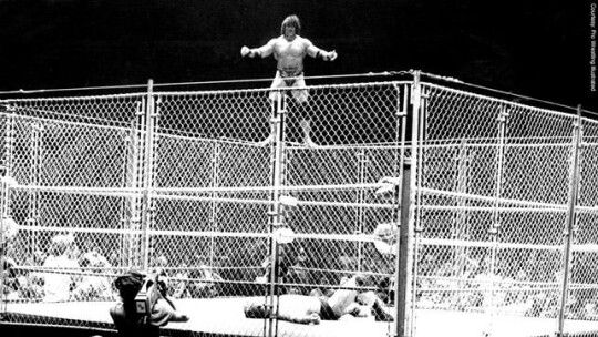Superfly Jimmy Snuka vs Don Muraco in a cage. Madison Square Garden