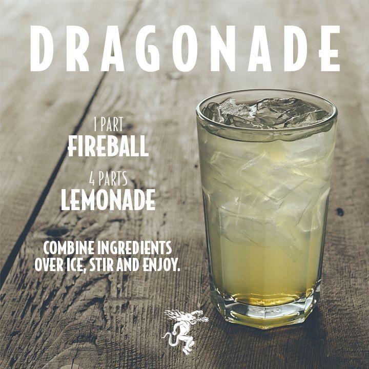Possible camping drink Dragonade. Fireball mixer