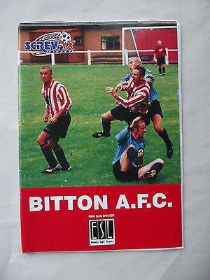 Football programme Bitton AFC v Torrington Screwfix League vintage 12 12