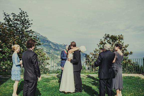 Kirsty and Fergus�s Italian Destination Wedding Ravello Civil ceremony