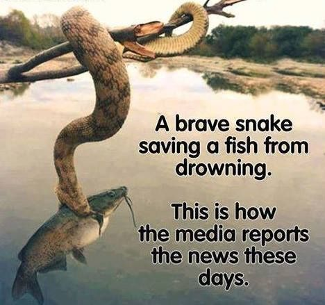 It shouldn't be called news anymore! Now, they aren't any better than a Mother Goose fairytale. It is like trying to learn about history by only talking to the victors.