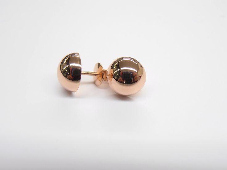 Sencillos clásicos y modernos, topos media bola en oro rosado fabricación hecha a mano   Joyas Marcel Joyas Marcel Duran Joyeros, Bogotá. #duranjoyerosbogota #joyeria #hermosasjoyas  #aretes #compracolombiano #hechoamano #Colombia