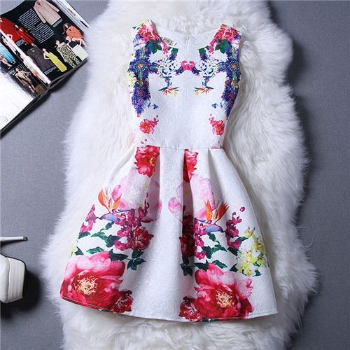 Department Name: Children Gender: Girls Dresses Length: Knee-Length Brand Name: WFRV Silhouette: A-Line Fit: Fits true to size, take your normal size Sleeve Length: Sleeveless Style: Lolita Style Mode
