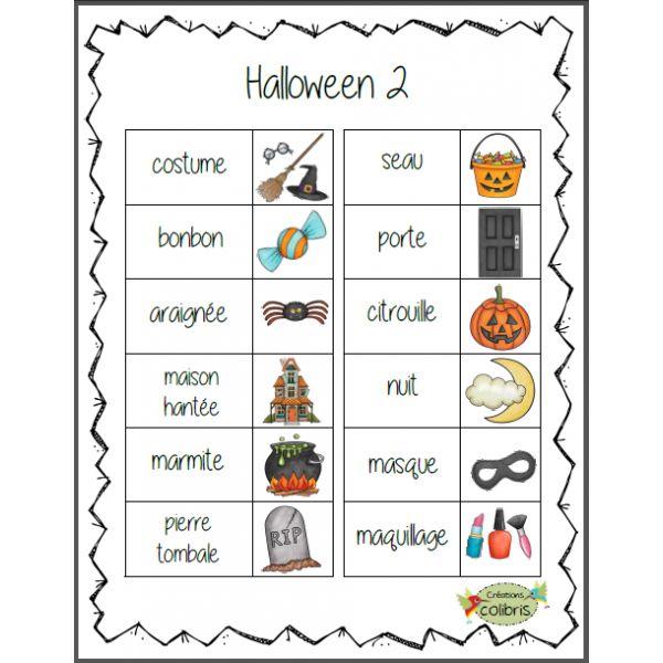 Halloween 2, Petits mots-étiquettes