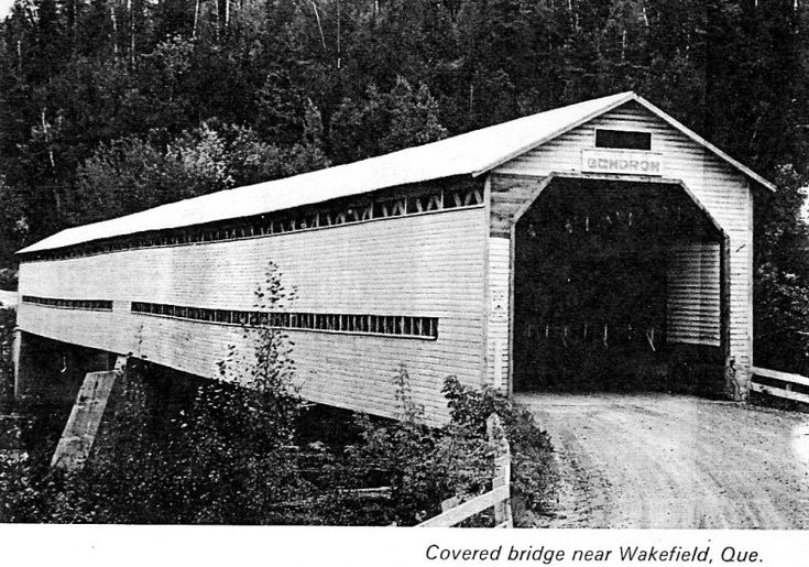 Covered bridge near Wakefield, Quebec.