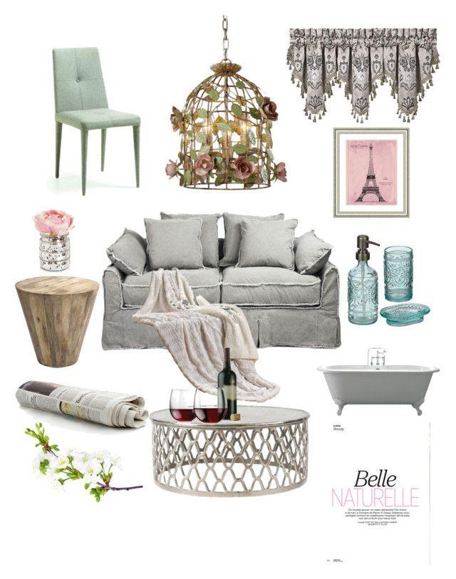 """Parisiana"" by raffaellapapami on Polyvore featuring interior, interiors, interior design, home, home decor, interior decorating, Vintage Print Gallery, J. Queen New York and Libbey"