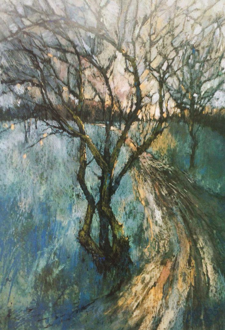 Sarah Bee, 'Wandsworth Common', acrylic and pastel 76x52cm