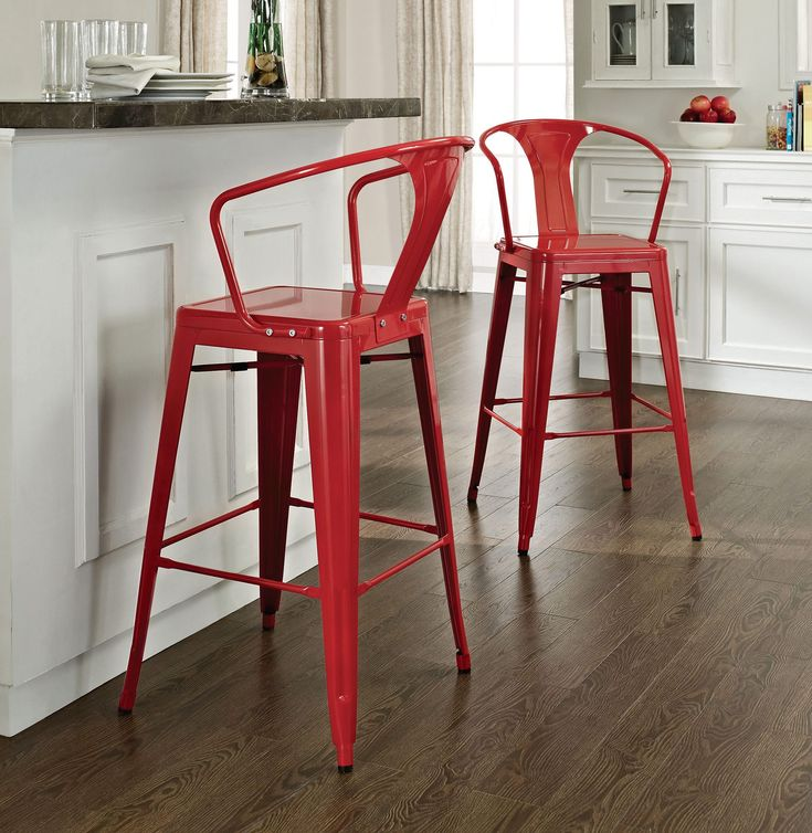 Red Bar Stools- Why Aren't You Using Them in Your Home Bar? | www.barstoolsfurniture.com