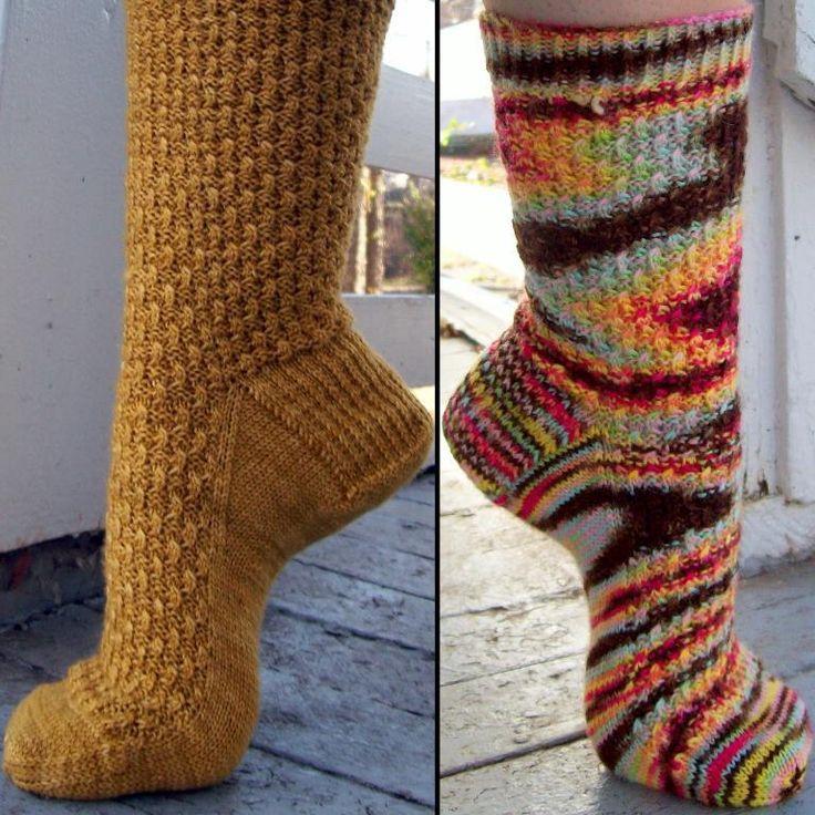 easy knit sock pattern | Knitting | Pinterest