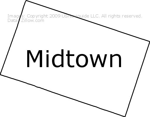 Midtown Sacramento California Zip Code Boundary Map Ca