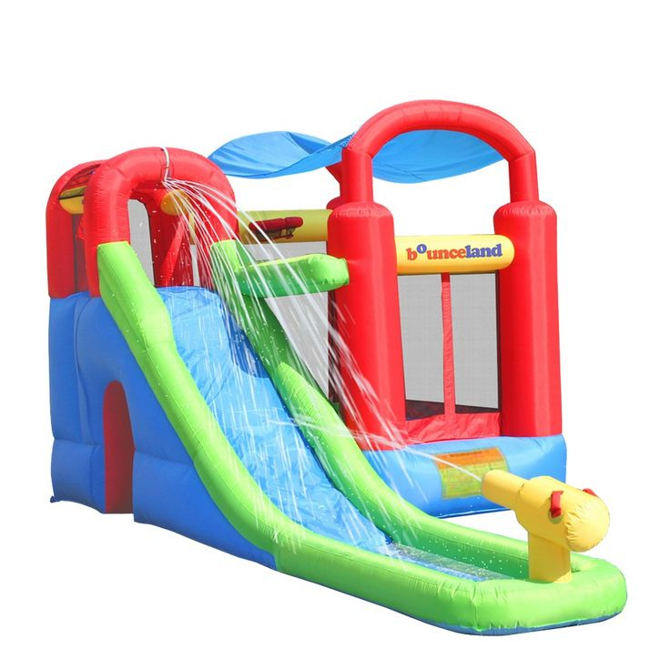 Bounceland Wet or Dry Inflatable Bounce House With Ballpit,