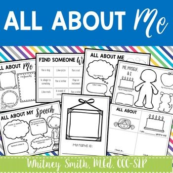 All about me worksheet high school