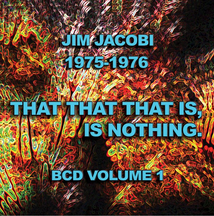 """""""that that that is is nothing  1975-1976""""         CD release 2014"""