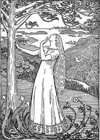 Dronning Ragnhilds draum.  Erik Teodor Werenskiold.