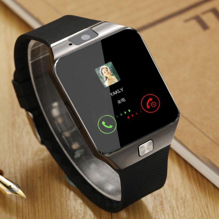 Para ios android teléfonos soporte multi idiomas smart watch dz09 smartwatch bluetooth y cámara de pantalla táctil reloj de la tarjeta sim