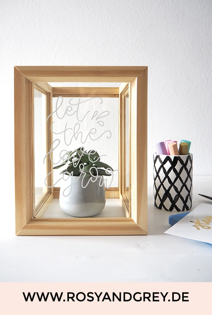 DIY Pflanzenkasten aus Bilderrahmen selbermachen