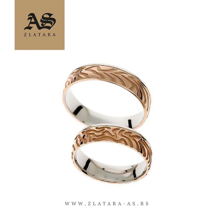 "Burme Organic 123 • Burme iz dve boje zlata (roze i belo zlato), širine 5mm, neobičnog dizajna, pravi je predstavnik ""Organic"" kolekcije.  #weddingcentar #veridba #vencanje #novisad #srbija #beograd #prsten #verenickiprsten #burme #zlatara #zlataraas #ljubav #poklon #dijamant #dijamanti #morganit #akvamarin #engagement #wedding #weddings #ring #rings #enagementring #engagementrings #proposal #love #gift #jewelry #jewelery #marriage"