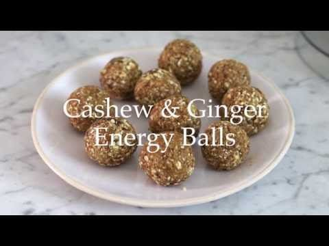 Deliciously Ella - Cashew and Ginger Energy Balls - YouTube