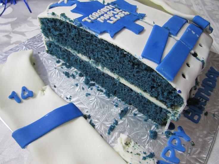 Toronto Maple Leafs Dave Keon Birthday Cake - Blue Velvet!