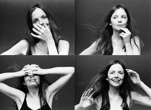 Diane Keaton fotografiada en Los Angeles en 1975