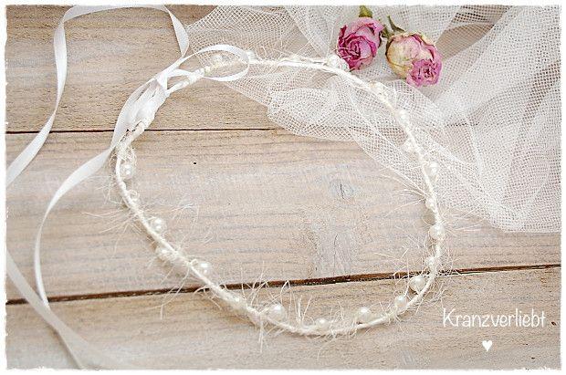 Haarkranz Hochzeitskranz Brautkranz  *Perlen* von Kranzverliebt auf DaWanda.com