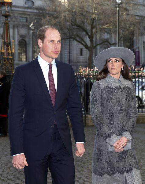 Le duc et la duchesse de Cambridge le 14 mars 2016