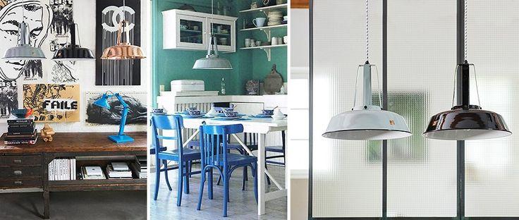 Lámpara de suspensión Workshop Lamp Grey de HK Living. Ideal para conseguir un toque industrial. #lampara #suspension #lamps #iluminacion #HKLiving  #luces #luz #estiloIndustrial #Workshop #decoration