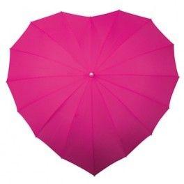 Hartvormige paraplu in meerdere kleuren