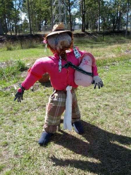 One of the contestants in Gloucester's (NSW) Tucker Patch 2013 Annual Scarecrow Competition.
