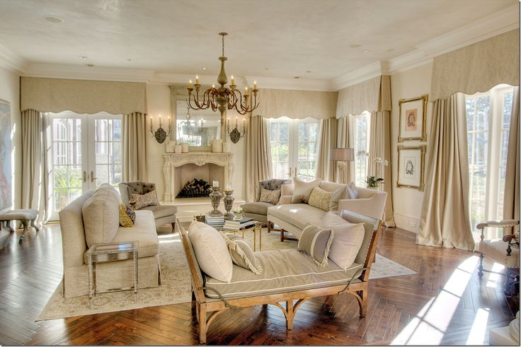 beautiful neutral living room all things french country