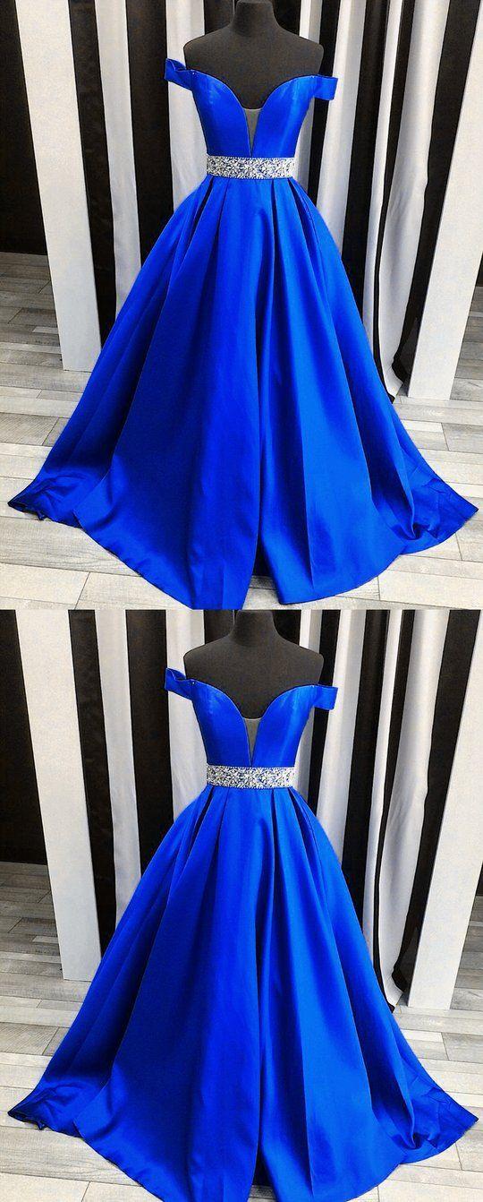 ba1a6fdb2019db Royal Blue Long Prom Dresses Beaded Evening Dresses Off the Shoulder A-Line  Formal Dresses #fashion#promdresses#eveningdresses#formaldresses# ...