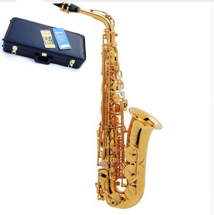 Hot selling France Henri selmer 54 saxophone alto Musical Instruments saxofone Electrophoresis gold professional sax & Hard boxs