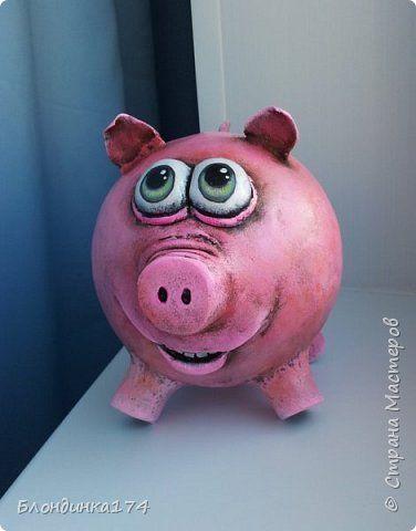 Мастер-класс Поделка изделие Папье-маше Свинка-копилка Бумага Клей Краска фото 1