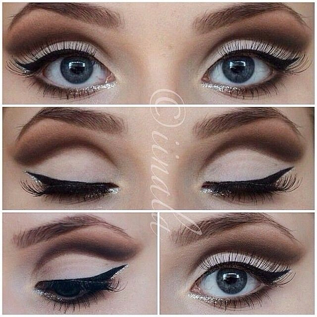 .@vegas_nay | This beautiful cut crease glitter by @iinala reminds me of Audrey Hepburn's e... | Webstagram