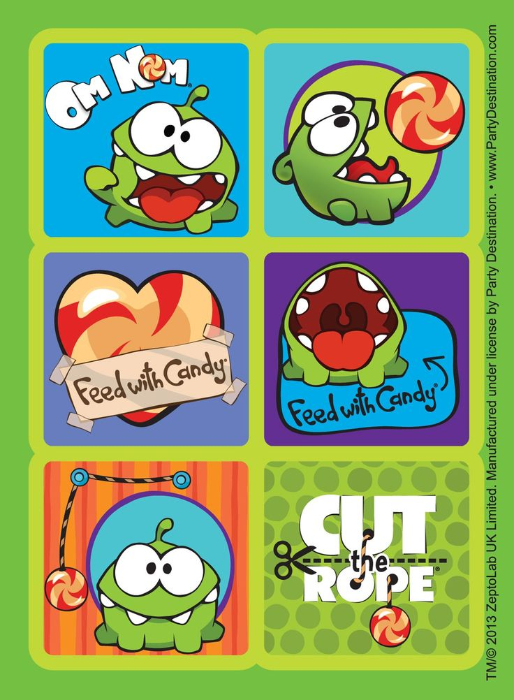 Cut the Rope Sticker Sheets, 88041