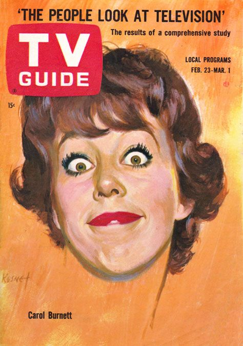 Carol Burnett on TV Guide cover Feb. 23-March 1, 1963