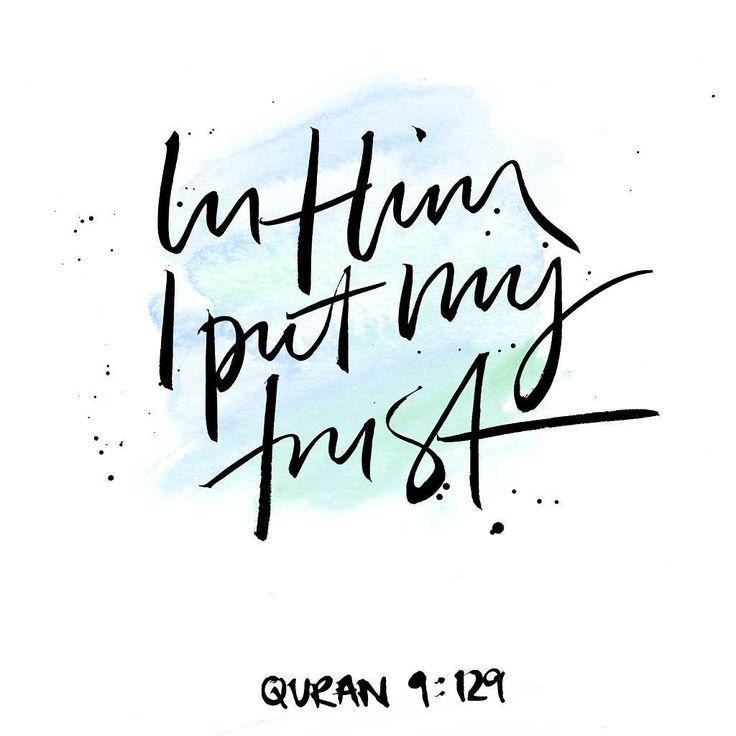 Trust God  #allah #brushlettering #watercolour