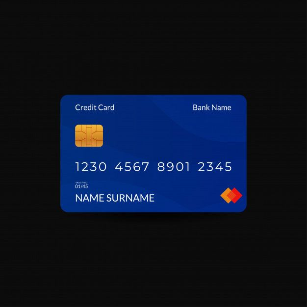 Credit Card Design Templates With Blue Color Di 2020 Dengan Gambar