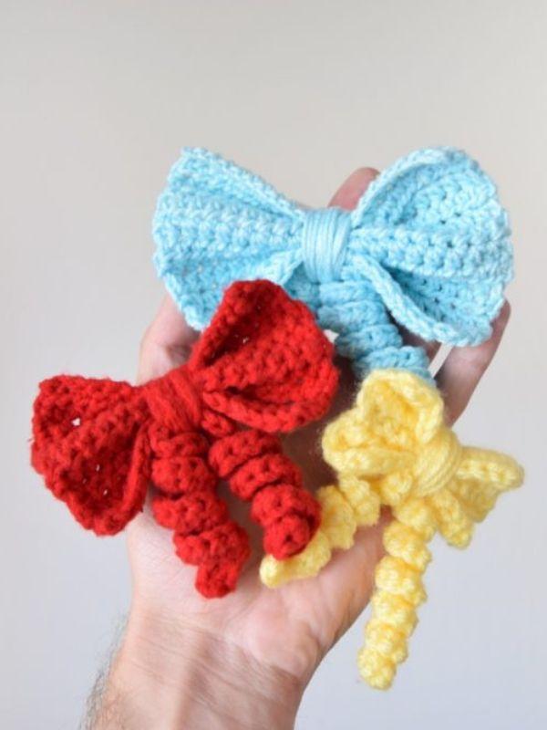 Curly Bow Free Crochet Pattern Crochet Pinterest Crochet