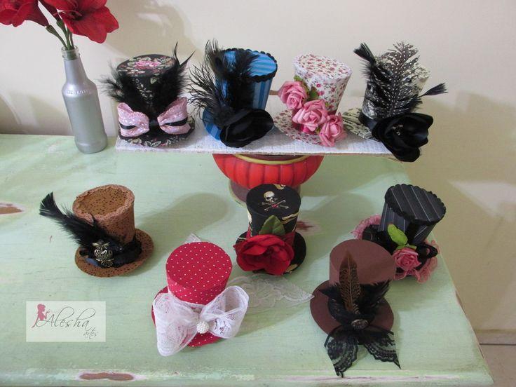 Mini cartolas. Mini top hat. Steampunk. showgirl, burlesque